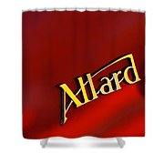1951 Allard K2 Roadster Emblem Shower Curtain