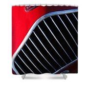 1951 Allard K2 Roadster Hood Ornament Shower Curtain