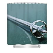 1951 Buick Hood Ornament Shower Curtain