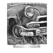 1951 Chevrolet Power Glide Black And White 2 Shower Curtain by Lisa Wooten