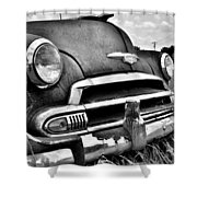 1951 Chevrolet Power Glide Black And White 3 Shower Curtain