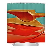 1951 Crosley Hot Shot Hood Ornament 2 Shower Curtain