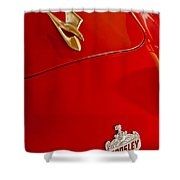 1951 Crosley Hot Shot Hood Ornament Shower Curtain