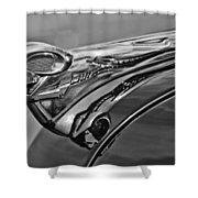 1951 Dodge Pilot House Pickup Hood Ornament 2 Shower Curtain by Jill Reger