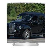 1951 English Ford Prefect Street Rod Sedan Shower Curtain