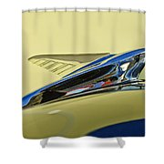 1951 Ford Hood Ornament 2 Shower Curtain