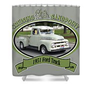 1951 Ford Truck Shields Shower Curtain