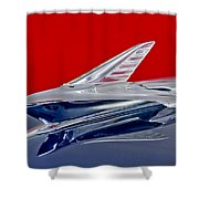 1951 Ford Woodie Hood Ornament Shower Curtain