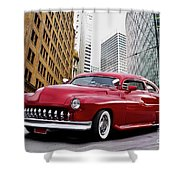 1951 Mercury 'candy Custom' Sled L Shower Curtain