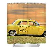 1951 Plymouth Sedan 'yellow Cab' Shower Curtain