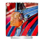 1951 Pontiac Chief Hood Ornament Shower Curtain