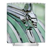 1951 Pontiac Streamliner Hood Ornament 3 Shower Curtain