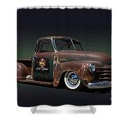 1951 Rusty Chevrolet Pickup Truck Shower Curtain