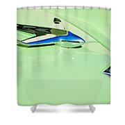 1951 Studebaker Commander Hood Ornament 3 Shower Curtain