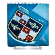 1951 Studebaker Hood Emblem Shower Curtain