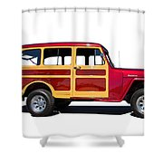 1951 Willy's Jeep Wagon Shower Curtain