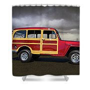 1951 Willy's Jeepster Shower Curtain