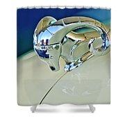 1952 Dodge Coronet  Diplomat Club Coupe Hood Ornament Shower Curtain