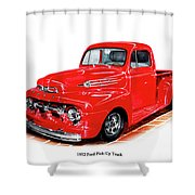 1952 Ford Pick Up Truck Shower Curtain