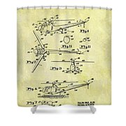 1952 Helicopter Patent Shower Curtain