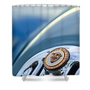 1952 Jaguar Hood Ornament Shower Curtain