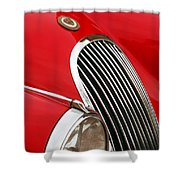 1952 Jaguar Xk 120 Grille Emblem Shower Curtain