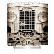 1952 Land Rover 80 Grille -1003s Shower Curtain