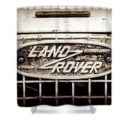 1952 Land Rover 80 Grille  Emblem -0988s2 Shower Curtain