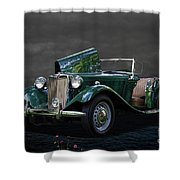 1952 Mg Td Roadster Shower Curtain