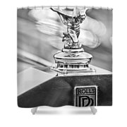 1952 Rolls-royce Silver Wraith Hood Ornament 2 Shower Curtain