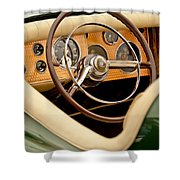 1952 Sterling Gladwin Maverick Sportster Steering Wheel Shower Curtain