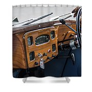 1952 Triumph Renown Limosine Instrument Panel Shower Curtain