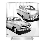 1952 Willys  Shower Curtain