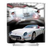 1953-2003 C5 Edition Shower Curtain