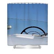 1953 Allard K3 Roadster Steering Wheel Shower Curtain
