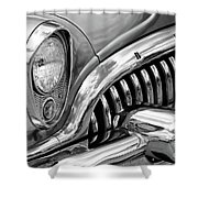 1953 Buick Chrome Bw Shower Curtain