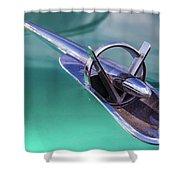 1953 Buick Super Hood Ornament Shower Curtain