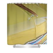 1953 Chevrolet Bel Air Hood Ornament Shower Curtain