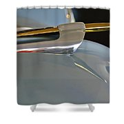 1953 Lincoln Capri Hood Ornament 2 Shower Curtain