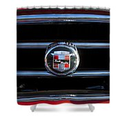 1953 Nash Healey Roadster Hood Ornament Shower Curtain