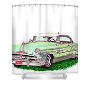 1953 Pontiac Chieftain Catalina H.t. Shower Curtain