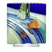 1953 Pontiac Hood Ornament 5 Shower Curtain