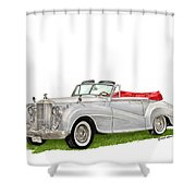 Rolls Royce Silver Dawn 1953 Shower Curtain
