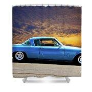 1953 Studebaker 'blue Streak' Commander Shower Curtain