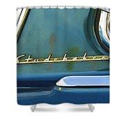1953 Studebaker Champion Starliner Abstract Shower Curtain by Jill Reger