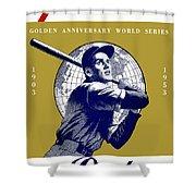 1953 Yankees Dodgers World Series Program Shower Curtain
