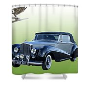 1954 Bentley Drop Head Coupe Shower Curtain