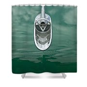 1954 Buick Hood Ornament 2 Shower Curtain