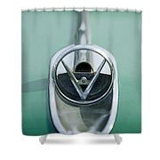 1954 Buick Hood Ornament Shower Curtain