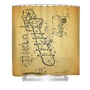 1954 Chainsaw Patent Shower Curtain
